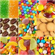 Different colorful sweets backgrounds - stock photo