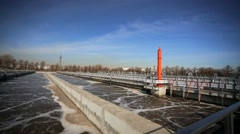 Sewage treatment plant Stock Footage