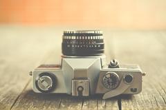 retro analogue camera - stock photo