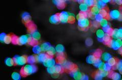 Stock Illustration of Abstract Circular Bokeh Background From Light Tree