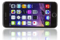 Apple Space Gray iPhone 6 - stock photo