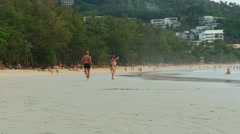 Kata beach Stock Footage