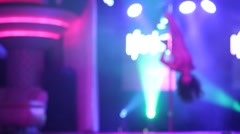 Sexy woman dancing in a strip club. Stock Footage