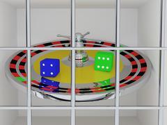 Gambling crime Stock Illustration