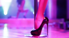 Woman dancing on a stage in a strip club. Stock Footage