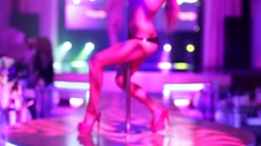 sexy woman dancing in a strip club. - stock footage
