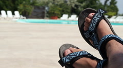 Relaxing by the Pool Stock Footage