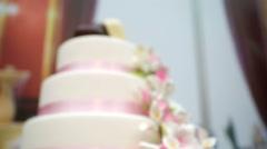 Beautiful wedding cake Stock Footage