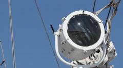 Ship Communication Spotlight - stock footage