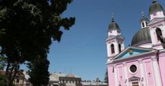 Cathedral. Chernivtsi, Ukraine. Stock Footage