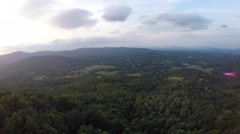 Aerial Over Blue Ridge Mountains Stock Footage