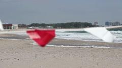 Powerful Wind on Beach Stock Footage