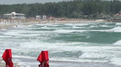 Rough Waves on Shore Stock Footage