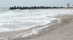 Stormy Beach Stock Footage