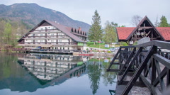 Hotel standing near the lake Stock Footage