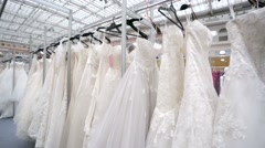 Wedding dresses - stock footage