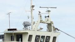 Command Bridge on Ship Stock Footage