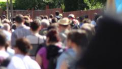 Thousands of Going People - stock footage