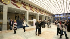 People in hall of Kremlin Palace Stock Footage