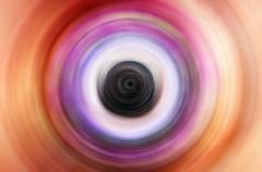 Abstract Background Of Spin Circle Radial Motion Blur Stock Illustration