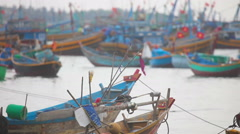 Fisher boats Stock Footage