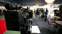 Professional cinema camera - stock footage