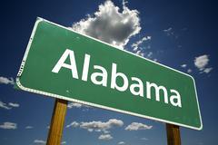 Alabama Road Sign - stock photo