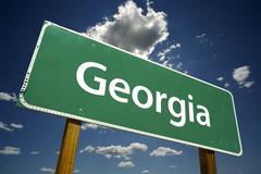 Georgia Road Sign - stock photo
