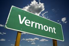 Vermont Road Sign Stock Photos