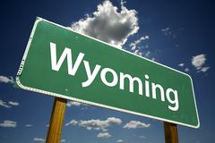 Stock Photo of Wyoming Road Sign