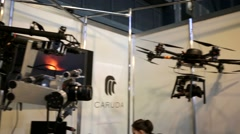 Professional cinema copters Stock Footage