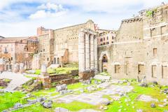 Roman Forum in Rome, Italy Stock Photos