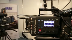 Professional cinema cameras Stock Footage