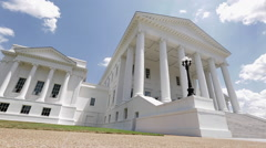 Richmond Virginia Capitol Building Close up - stock footage