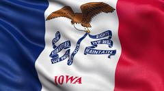 US state flag of Iowa Stock Illustration