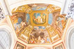 Ceiling in the Vatican museum - stock photo