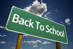 Back to School Road Sign - stock photo