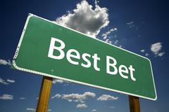Best Bet Road Sign - stock photo