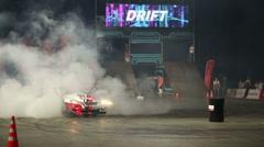 Drift car make smoke Stock Footage