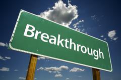 Breakthrough Road Sign Stock Photos