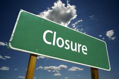Closure Road Sign - stock photo