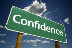 Confidence Road Sign - stock photo