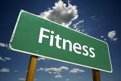 Fitness Road Sign Stock Photos