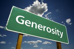 Generosity Road Sign Stock Photos