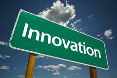 Innovation Road Sign - stock photo
