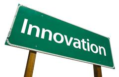 Innovation Road Sign with Clipping Path - stock photo