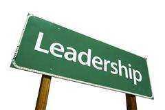 Stock Photo of Leadership Road Sign with Clipping Path