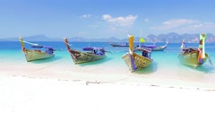 Sea shore of tropical island near Phuket in Thailand at summer with clear sky Arkistovideo