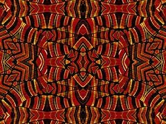 Intricate Geometric Tribal Seamless Artwork - stock illustration
