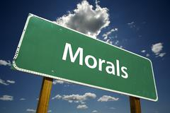 Morals Road Sign - stock photo